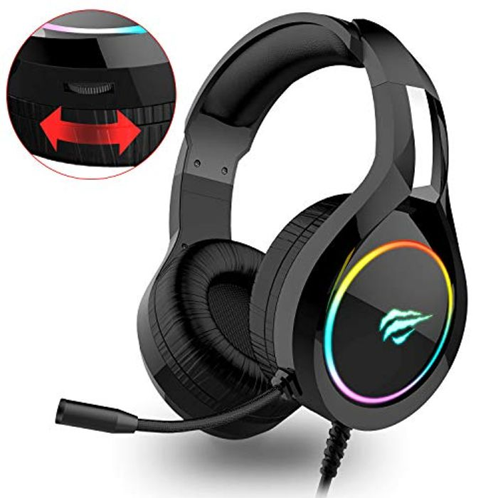RGB Wired Gaming Headset PC USB 3.5mm XBOX / PS4