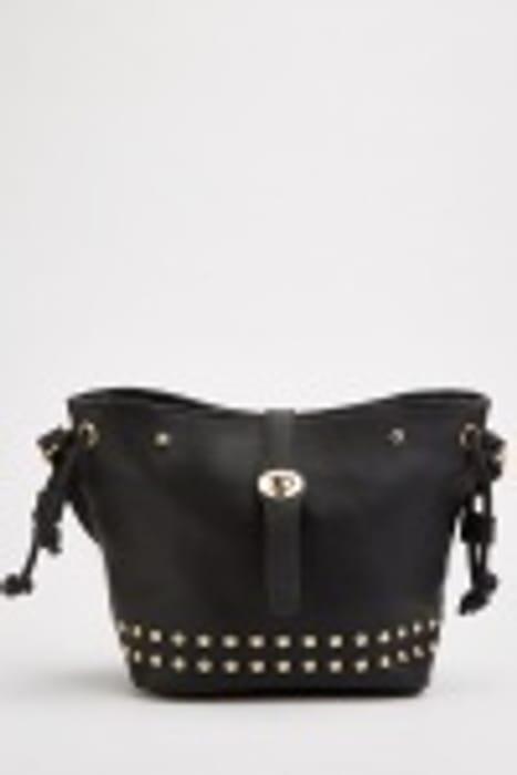 Studded Textured Shoulder Bag