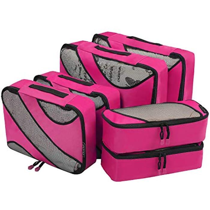 Eono by Amazon - 6 Set Packing Cubes,3 Various Sizes Travel Luggage Packing