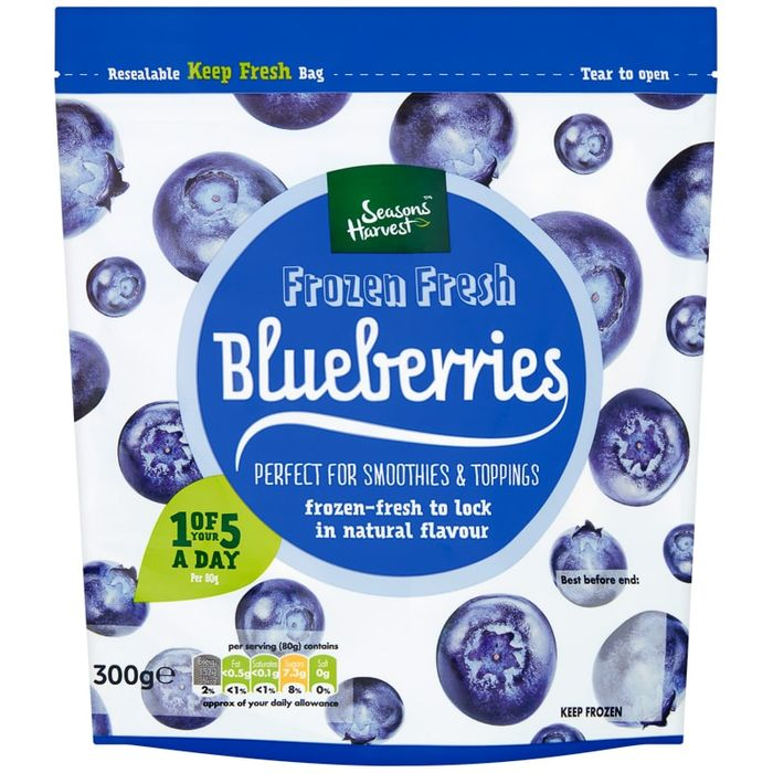 Frozen Blueberries Only 50p ,At Selected B&M Stores