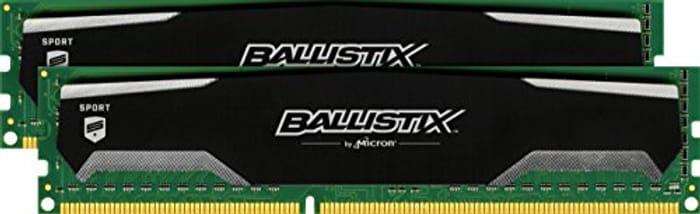 Ballistix Sport BLS2KIT4G3D1609DS1S00 8GB Kit (4GBx2) (DDR3, 1600 MT/s