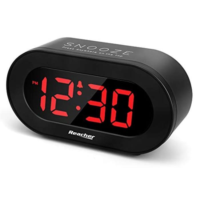 REACHER Large LED Digital Alarm Clock - Save £4