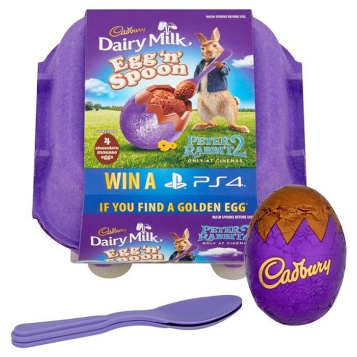 Cadbury Egg 'N' Spoon 4pk - HALF PRICE