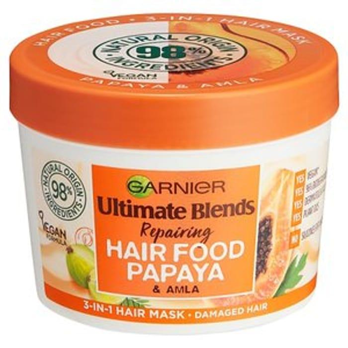 Garnier Ultimate Blends Hair Food Papaya 3 in 1 Mask 390ml