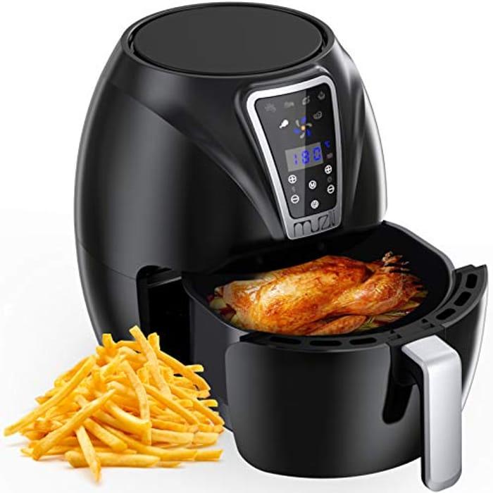 Air Fryer, Digital Mini Air Fryer 6-in-1 Oil Free Healthy Fryer Family-Size