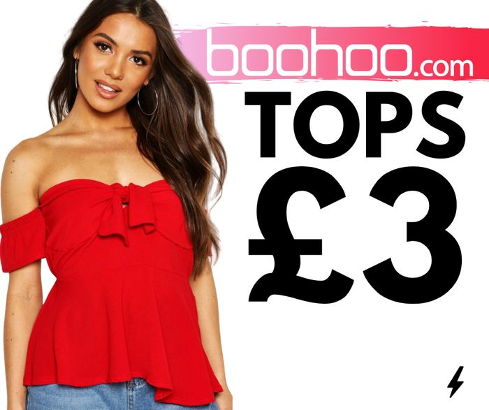 QUICK! £3 Tops Today Only At boohoo - Up To 80% Off!