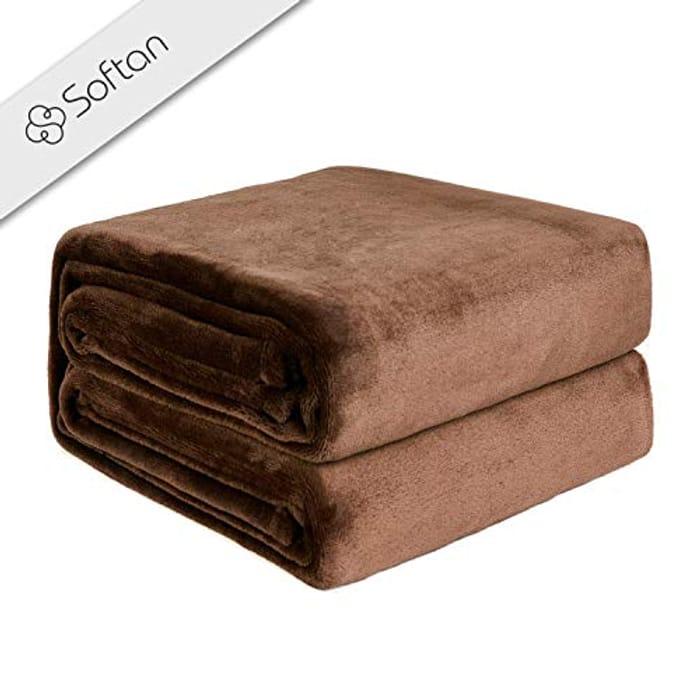 Fleece Blanket Lightweight (Brown)