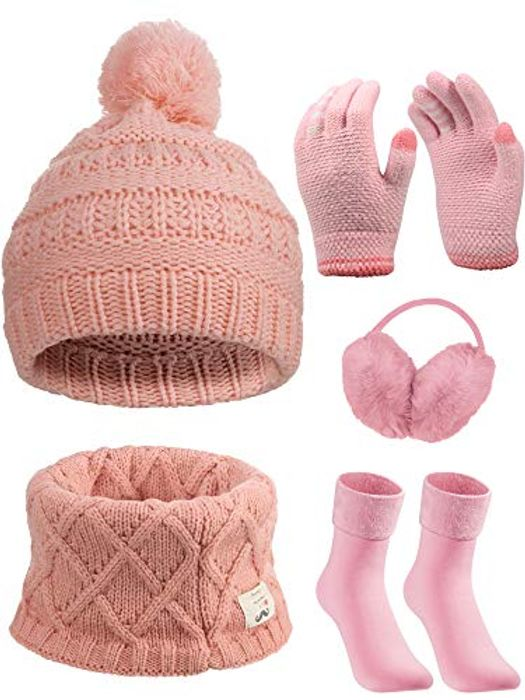 5 Pieces Girl Winter Warm Kit for Only £3.99