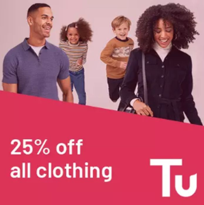 25% off ALL Tu Clothing including Costumes for World Book Day!