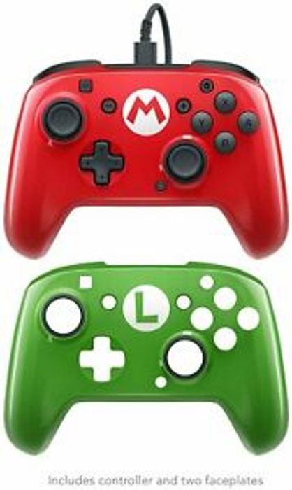 Mario & Luigi Wired Nintendo Switch Pop Off Controller £15.99 Delivered