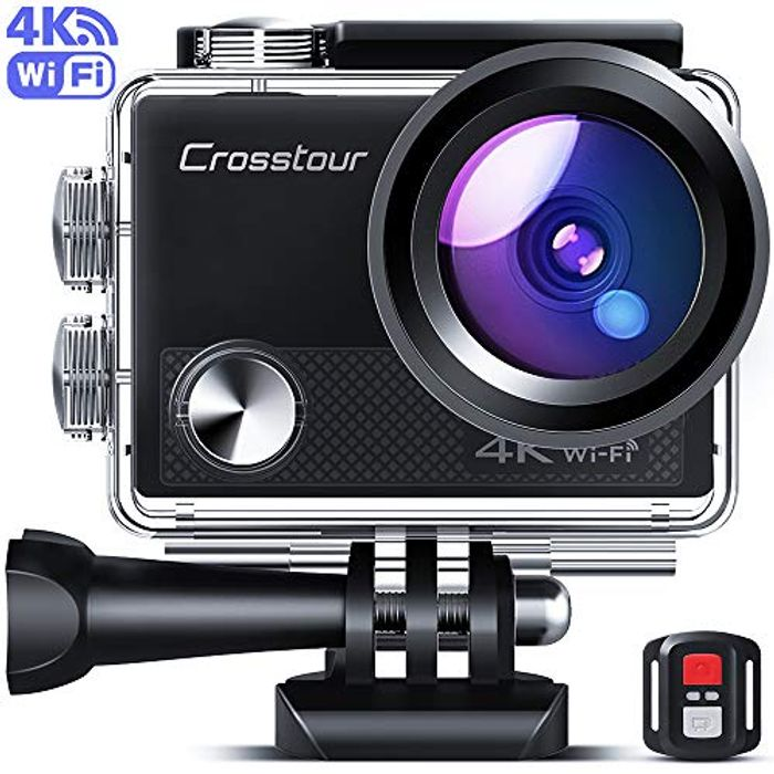Crosstour Upgraded 4K 20MP Action Camera WiFi Sports