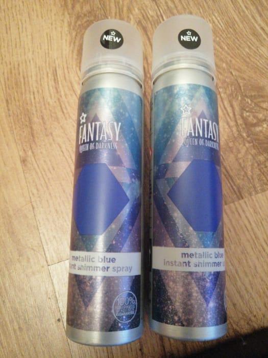 Fantasy Blue Shimmer Hair Spray