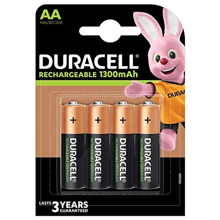 Best Ever Price! Duracell Recharge plus Type AA Batteries 1300 mAh, Pack of 4