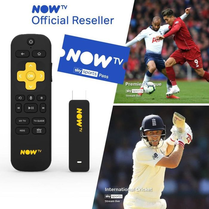 NOW TV Smart Stick with HD & Voice Search & 1 MONTH SKY SPORTS PASS