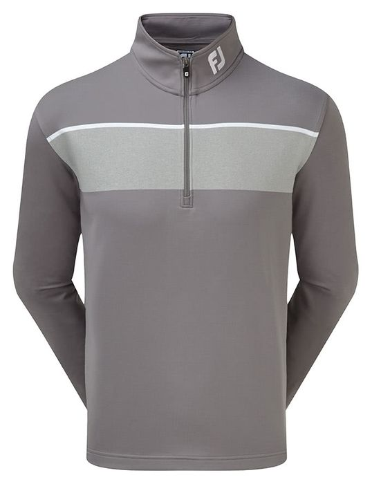 FootJoy Mens Jersey Chest Stripe Chill-out Pullover