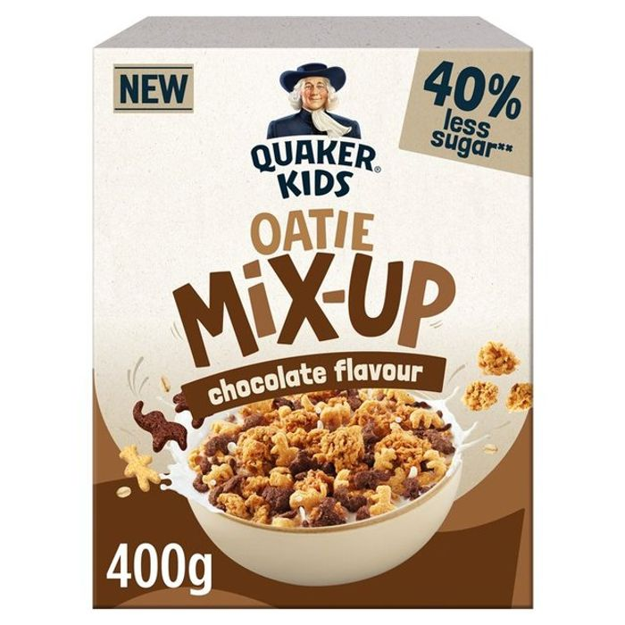 Quaker Kids Oatie Mix-up Cereal 400g (Chocolate, Strawberry or Honey)