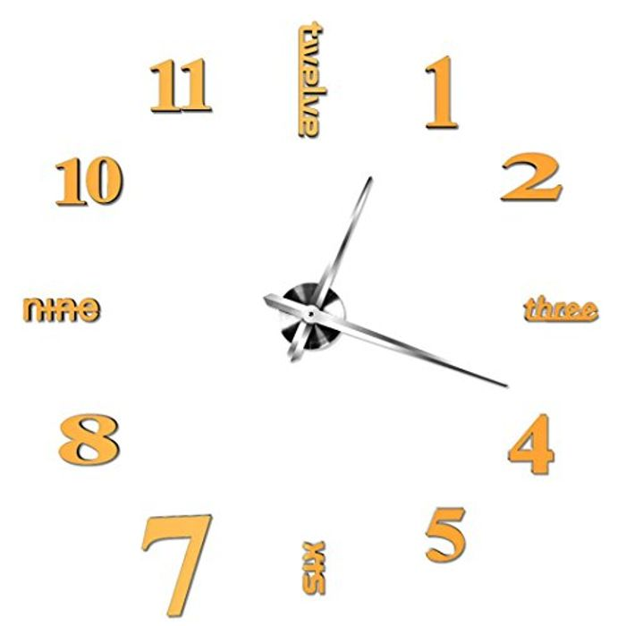 Cheap 3D Frameless Wall Clock on Sale From £9.99 to £2.17