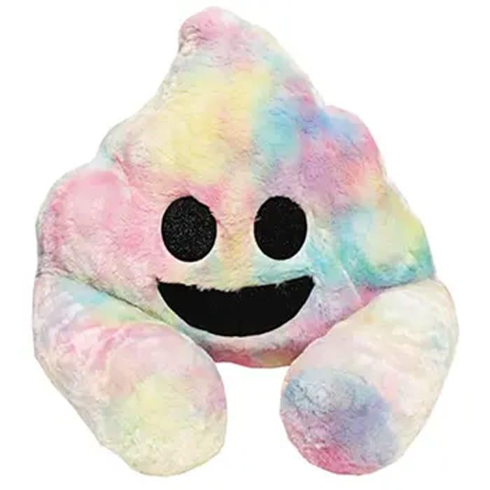 HALF PRICE!!! Multi Colour Poo Plush Sofa Snuggles - Free Delivery with Code