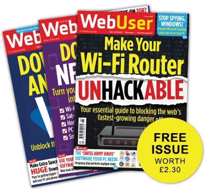 Free Copy of Web User Magazine.