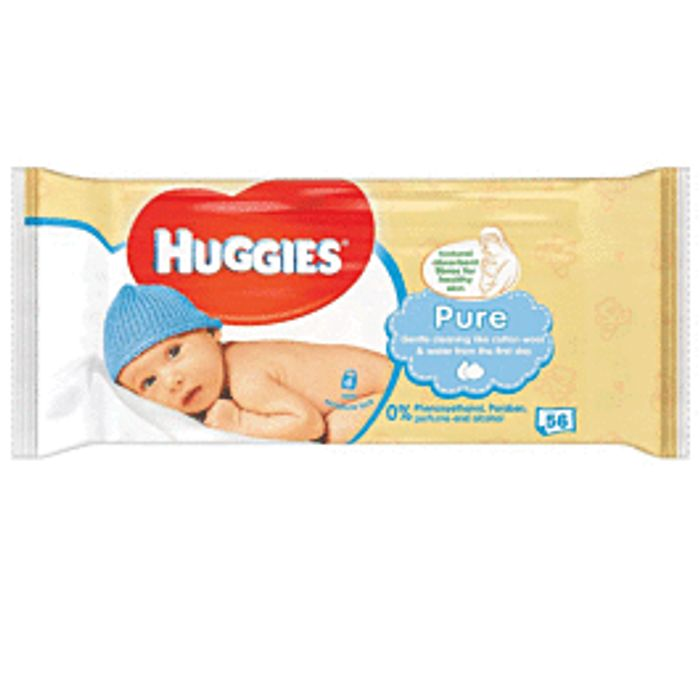 Huggies Pure Baby Wipes - Only £0.45