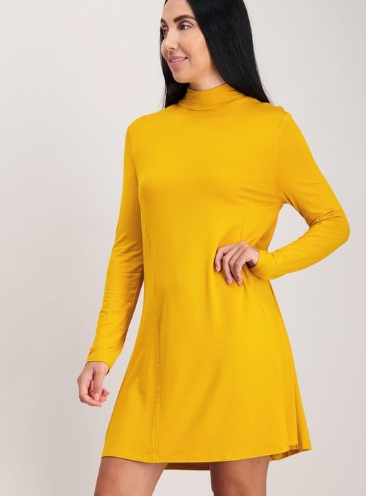 Yellow Jersey Swing Dress
