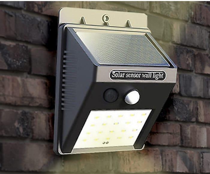 Outdoor Garden Solar Security Lights Choose 1 - 4 From £4.50 +p&p