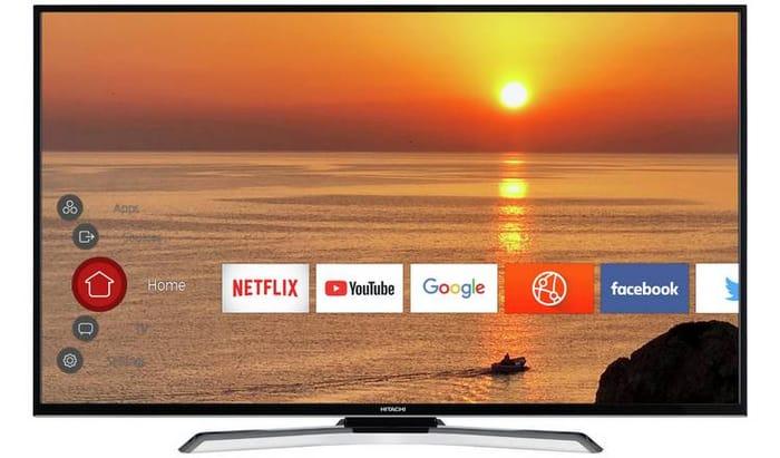 """SAVE £80 - Hitachi 55"""" Smart 4K LED TV - £299.99"""