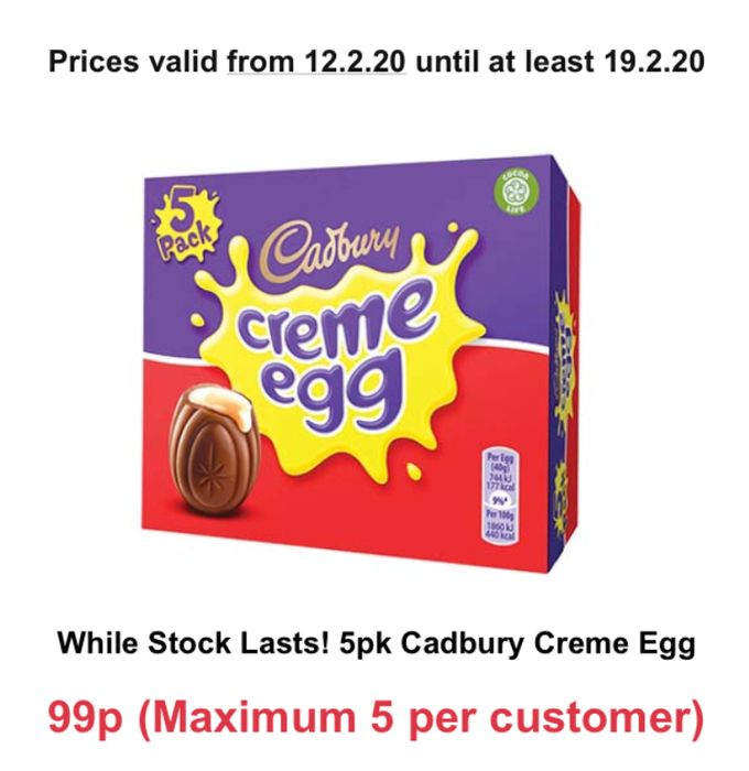 5x Cream Eggs Only 99p at Farmfoods
