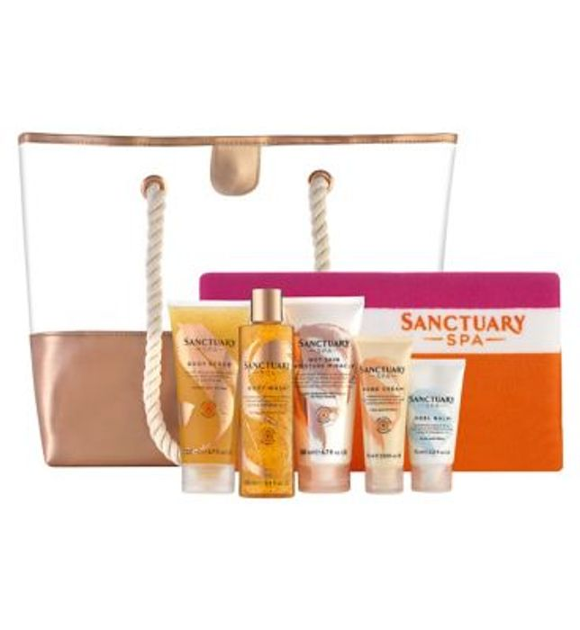 Cheap Sanctuary Spa Golden Summer Beach Bag and Towel, Only £16!