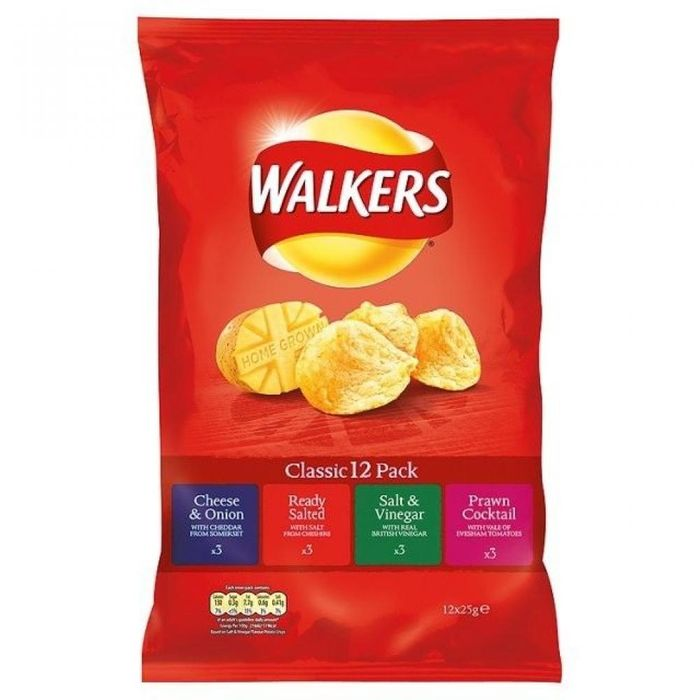 MEGA DEAL Walkers Classic Variety 12 X 25g