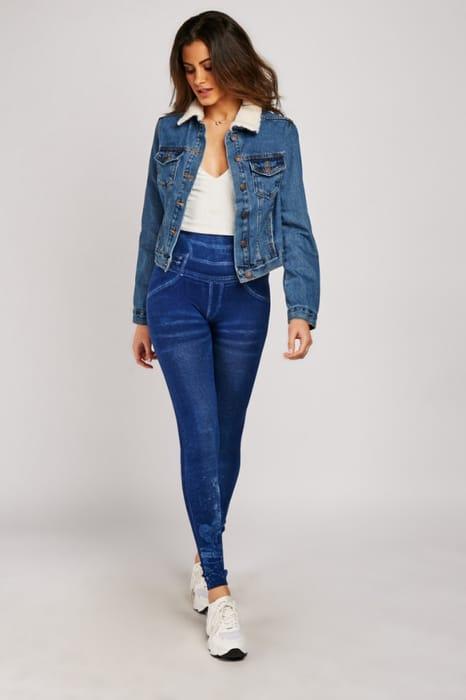 Imitation Denim Jeans Leggings