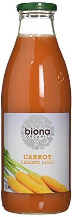 Biona Organic Pressed Carrot Juice 1 Litre(pack of 6) Min Order : 3