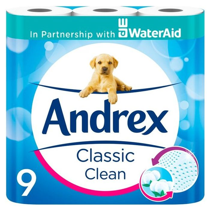 Offer - Andrex Classic Clean Toilet Roll 9 per Pack