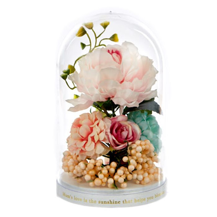 Sentimental Mother's Day Artificial Flower Dome
