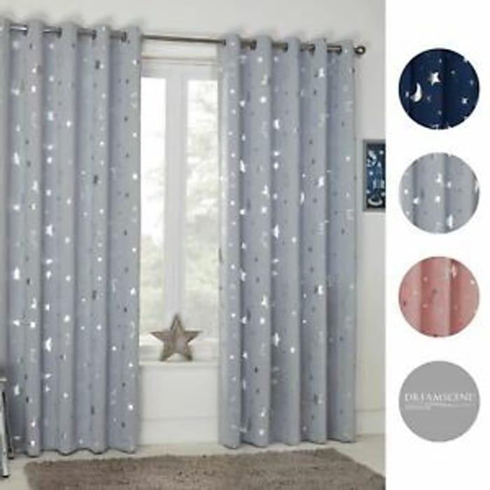 Bargain! Dreamscene Star Thermal Blackout Curtains at Ebay