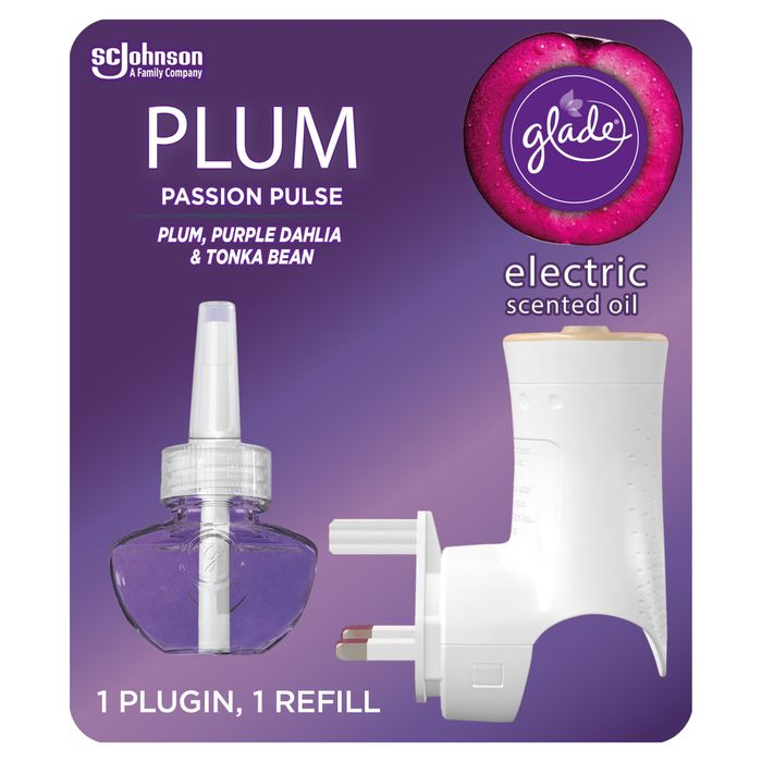 Glade Electric Scented Oil Plugins Plum Passion Pulse 20Ml
