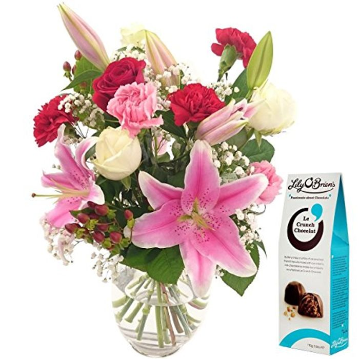 Fresh Oriental Flower Bouquet FREE Chocolates & FREE next Day Delivery