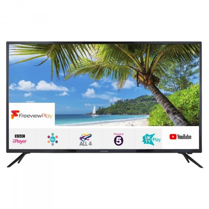 """*SAVE £30* Linsar 55"""" 4K Ultra HD Smart LED TV £299 with Code"""