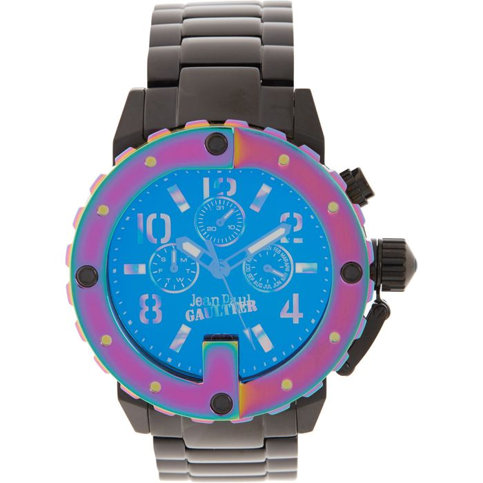 *SAVE £200* JEAN PAUL GAULTIER Black & Multicoloured Chronograph Watch