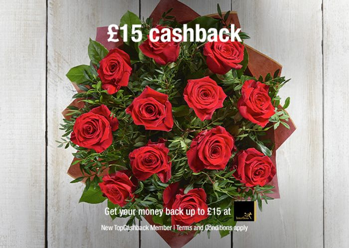 Free Flowers at Interflora up to £15 after Cashback