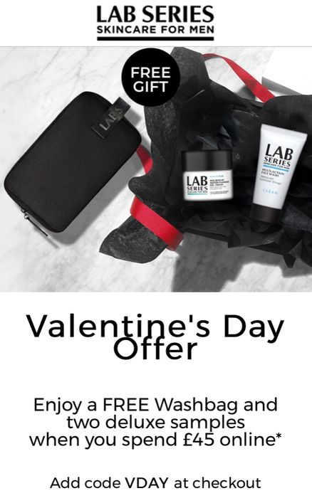 Free Washbag and 2 Deluxe Samples When You Spend £45