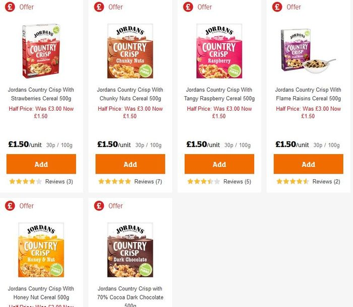 Special Offer - Jordans Country Crisp (All Flavours)