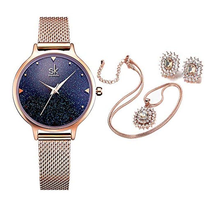 3 Piece Jewelry Gift Set Quartz