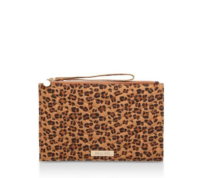 Miss KG - Leopard 'Heather' Print Clutch Bag