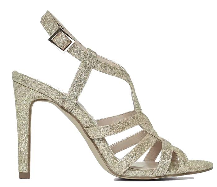 Dorothy Perkins - Showcase Gold Byze Heeled Sandals Debenhams