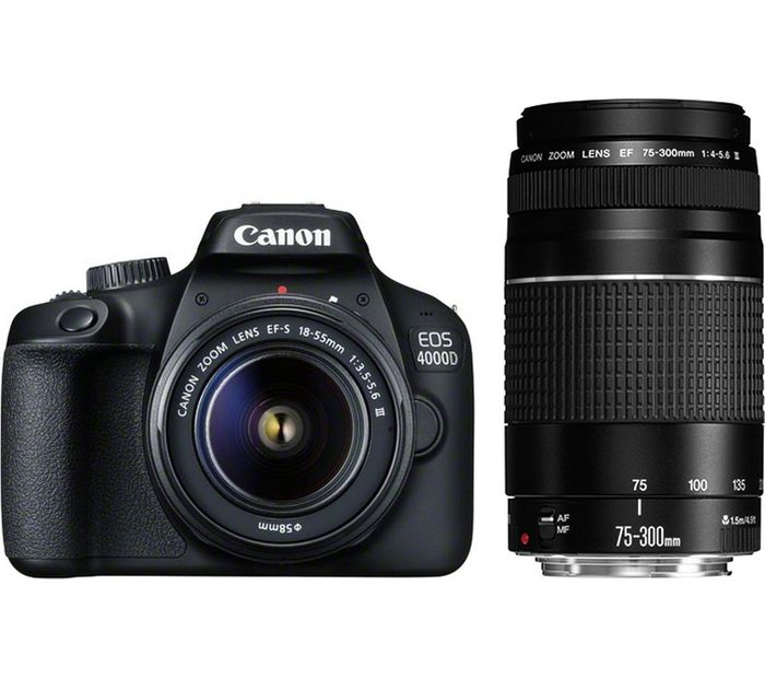 £150 off Canon EOS 4000D DSLR Camera with Lenses Orders
