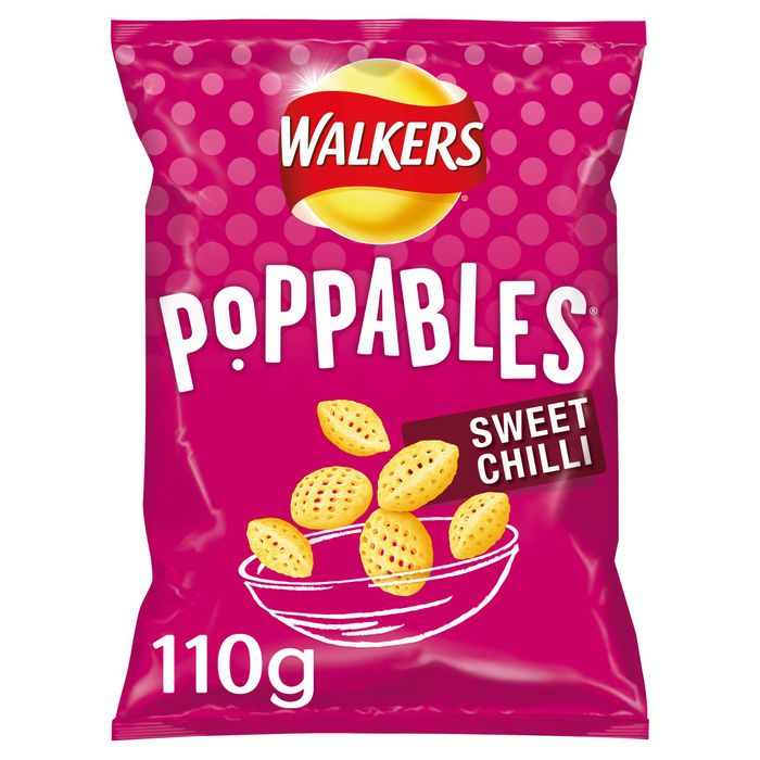 Walkers Poppables Sweet Chilli Snacks 110G