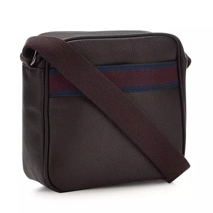 The Collection - Brown Striped Webbing City Bag