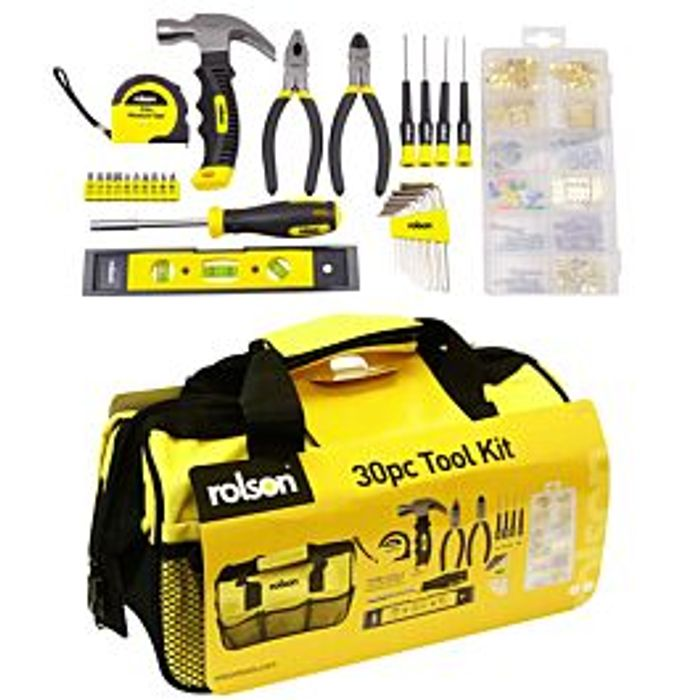 *HALF PRICE* Rolson 30-Piece Tool Kit - Only £15.29 With Code
