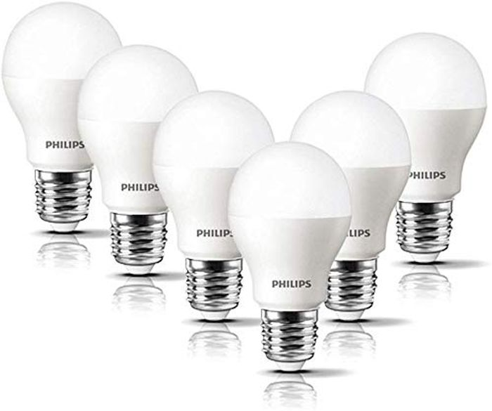 Philips LED E27 Frosted Light Bulbs, 8 W (60 W) - Warm White, Pack of 6